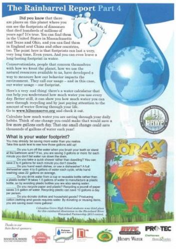 Rain Barrel Report part 4