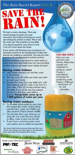 Rain Barrel Report part 5