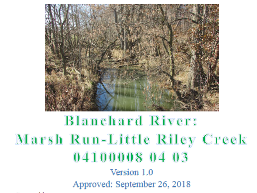 Marsh Run - Little Riley Creek Approved NPS Plan